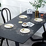 MANGATA Tischset Abwischbar, Platzset Rund Silber für Hochzeit, Dinnerpartys, Geburtstagsparty, Weihnachten, 38CM, 10er Set - 2