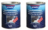 Presto Unterbodenschutz 2 Dosen zu je 1,3 kg Bitumen
