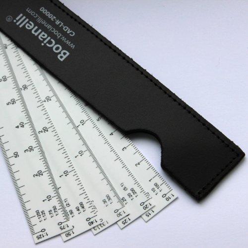 15 cm Escalímetro Abanico Profesional Plástico Escala 1:10 1:15 1:20 1:25 1:30 1:33 1:40 1:50 1:75 1:100 1:125 1:150 1:200 1:250 1:300 1:400 1:500 1:750 1:1250 Arquitectura Ingeniería Dibujo Técnico