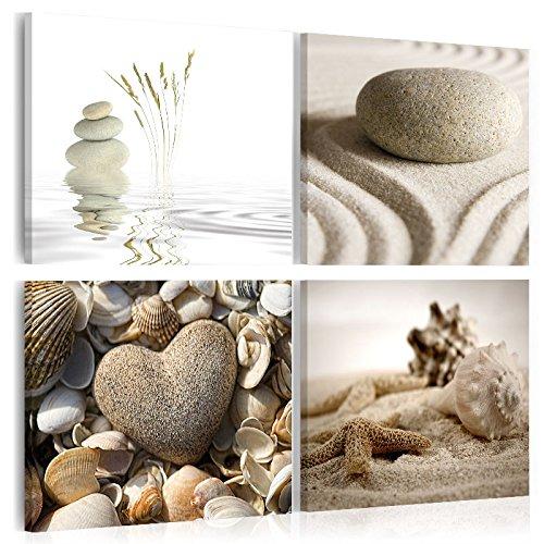murando - Acrylglasbild Natur 80x80 cm - Bilder Wandbild - modern - Decoration Muschel Steine 030208-6