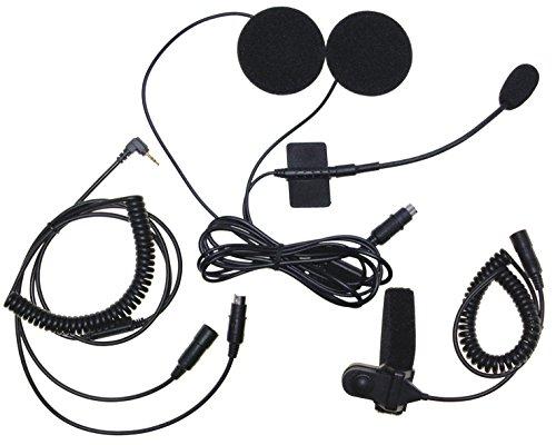 Stabo Elektronik 50113 MHS-650 Mikrofon/Ohrhörer für Jet-/Klapphelm und Integralhelm-Einbau schwarz