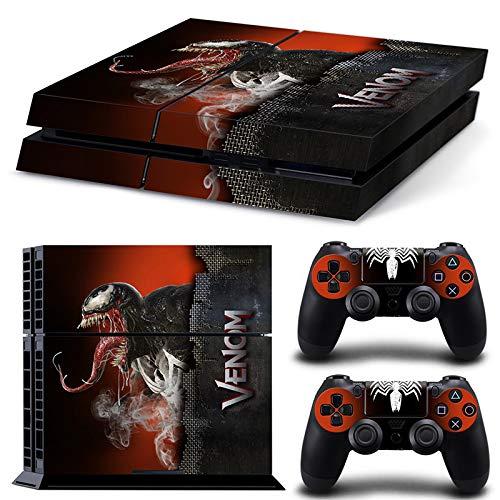 46 North Design Playstation 4 PS4 Folie Skin Sticker Konsole Venom aus Vinyl-Folie Aufkleber Und 2 x Controller folie