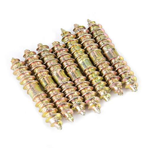 20 unids 5 * 30 mm tornillo de espiga de doble terminación pernos roscados roscados muebles para trabajar la madera varillas de conector barras pernos prisioneros
