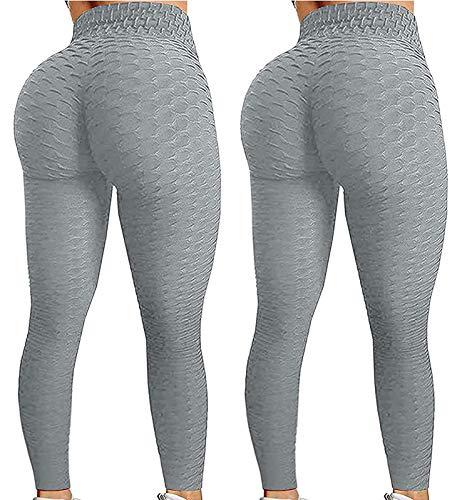2 polainas TIK Tok Levantamiento a tope Leggings mujeres Yoga Pantalón de cintura alta levantamiento de glúteos burbuja Hip Lift Pantalones de entrenamiento