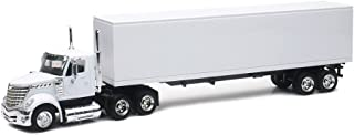Shop72 Personalized Diecast White Truck 1:43 Scale Customized International Lonestar White Cab & Trailer Add Your Logo, Image or Message