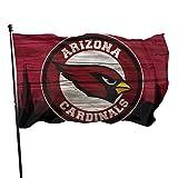 Xlcsomf Arizona Cardinals Bedruckte Gartenflagge, 152 x 91 cm, American Football verwenden Sie es bei jedem Wetter