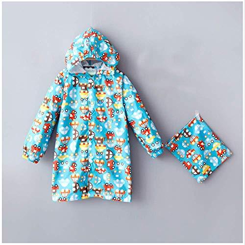 Guyuan Poncho Hibou bébé Fille imperméable garçon Fille Imprimer (Color : Blue, Size : XL)