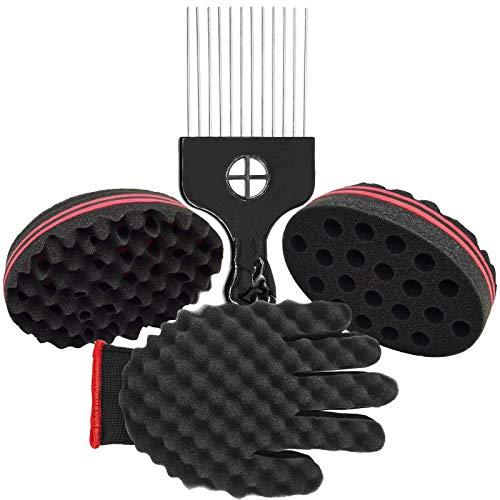 4pack Hair Sponge Set - Magic Hair Twist Sponge Brush For Hair Include...
