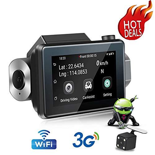 LY-QCYP Fahrrekorder Touchscreen 3G Fahrrekorder Dual Lens High Definition Nachtsicht Elektronischer Hund 24-Stunden-Fernüberwachung