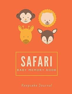 Safari Baby Memory Book / Keepsake Journal: 8.5