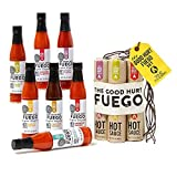 Modern Gourmet Foods, The Original Good Hurt Fuego Hot Sauce Sampler Gift Set, Set of 7 Spicy Chilli Sauces, 89 mL Each