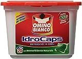 Omino Bianco - IdroCaps, Detersivo in Dosi con Ammorbidente, Pulito 100% Senza Sprechi -20 pezzi