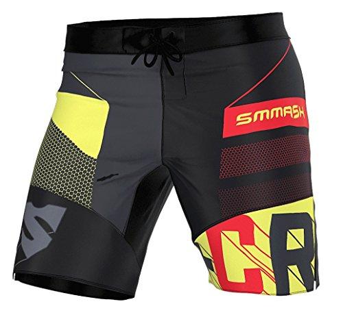 SMMASH Dexter Professionali Pantaloncini Crossfit Uomo, Traspirante e Leggero Pantaloncini Palestra Sportivi da Uomo, Materiali Antibatterici,Prodotto nell'Unione Europea (M)