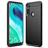 Sucnakp Moto G Fast Case Motorola G Fast Case TPU Shock Absorption Technology Raised Bezels Protective for Motorola Moto G Fast(TPU Black)