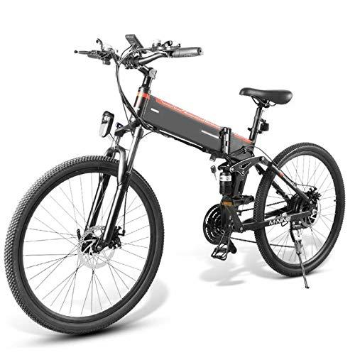 Lanceasy LO26 10Ah 48V 500W Zusammenklappbares Elektrofahrrad 26 Zoll 25 km/h Höchstgeschwindigkeit 80 km Kilometerstand E-Bike Mountainbike