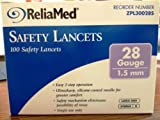 Reliamed Safety Seal Lancets 28G 100/Box