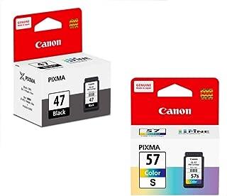 Canon Combo Pg 47 and Cl 57 Small Ink Cartridge Compatible with Pixma E400 E410 E417 E460 E470 E477 E480 E3170 E3177 Printers