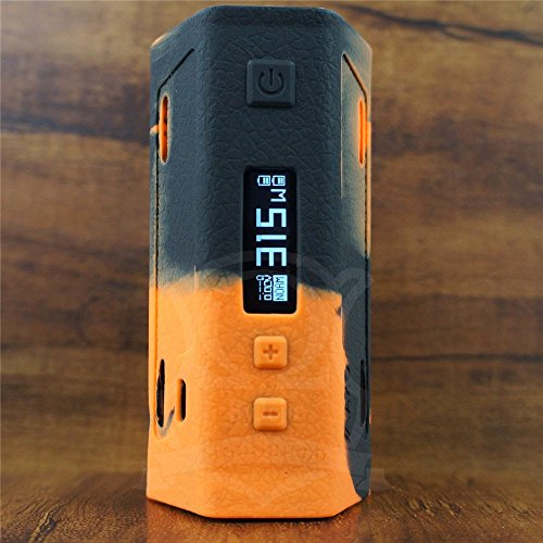 ModShield for iJoy Maxo 315W TC Quad 18650 Silicone Case ByJojo Skin Sleeve Cover Wrap Shield (Orange/Black)