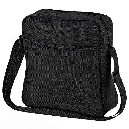 Bagbase - Bolso bandolera modelo Retro (7 litros) (Talla Única Negro grafito)