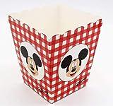 Scotton 10 Pezzi Topolino Mickey Disney Party Vaso per Confetti Dolci Popcorn 7x7x11 cm Rosso
