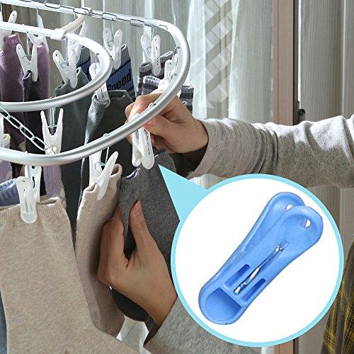 アイリスオーヤマピンチハンガー洗濯物干しアルミ52ピンチブルーPIA-52P