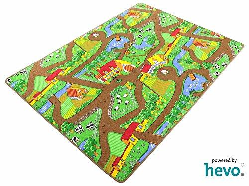 HEVO Mein Dorf Strassen Spielteppich | Kinderteppich 200x250 cm