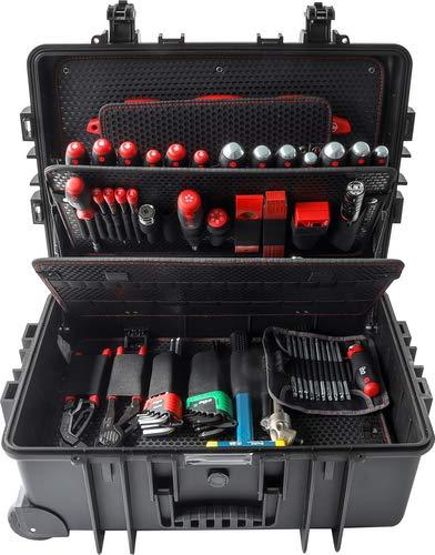 Wiha Werkzeug Set Industrial XXL gemischt 102-tlg. in Koffer (43711), Premium Universal und Haushalts-Werkzeugkoffer gefüllt,