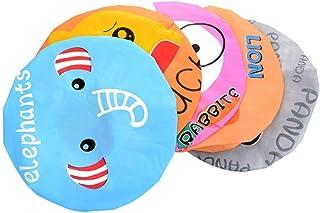 Aysekone 5 Pieces Cute Cartoon Animals Waterproof Elastic PEVA Shower Caps Bath Caps Bathing Bathroom Hats Bathroom Accessories for Women and Girls and Kids