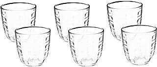 Bormioli Rocco Glass Drinkware Set of 6 - Transparent