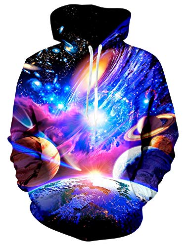 Spreadhoodie Herren 3d-grafik-hoodie einzigartige galaxy print kapuzen-breath pullover pullover für den winter galaxy4 xxl
