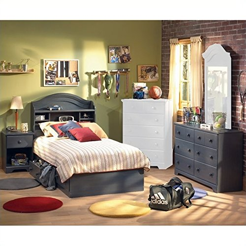 South Shore Summer Breeze Antique Blue Kids Twin Wood Captain S Bed 4 Piece Bedroom Set Buy Online In India At Desertcart In Productid 14908417