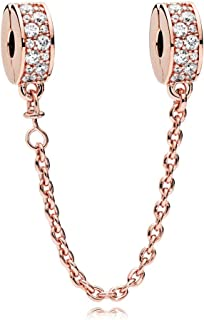 Women's Rose Shining Elegance Safety Chain Jewelry 786322CZ-05