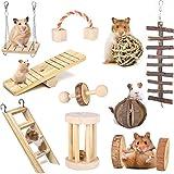 faddy-1 Lot de 10 Jouets à mâcher en Bois pour Petits Animaux, Hamster, Cochon d'Inde, Chinchilla, Perroquet, Lapin, Gerbilles, Rats