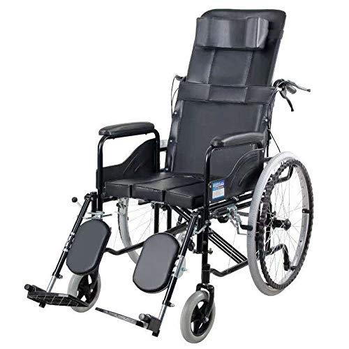 PLBB3K Sillas de Ruedas funcionales, sillas de Ruedas reclinadas y Semi-recumbentes, sillas de Ruedas con reposabrazos móviles hidráulicos, sillas de Ruedas de Inodoro, sillas de Ruedas de Movilidad