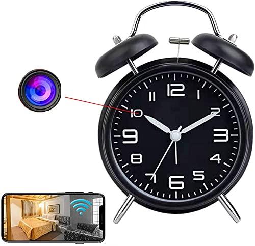 CXSMKP Reloj con Cámara Espía Oculta 4K HD Live Feed WiFi Mini Cámara Wireless Nanny CAM con Visión Nocturna Y Detección De Movimiento para Monitor En Tiempo Real Seguridad del Hogar Y del Bebé