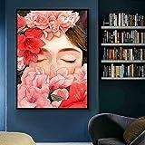 GJQFJBS Impression sur Toile Mur Art Affiche Et Imprime Lèvres Sexy Peinture À l'huile Salon Couleur Mur Photo Décoration A5 60x90 cm