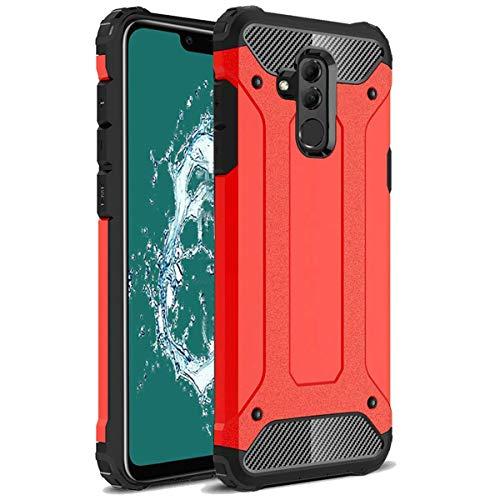 TenYll Huawei Mate 20 Lite Funda, protección contra Golpes de TPU+PC Resistente a arañazos(Doble Capa),para Huawei Mate 20 Lite Funda -Rojo