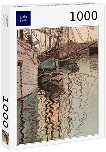 Lais Puzzle Egon Schiele - Velieri in Acqua con Moto ondoso (Il Porto di Trieste) 1000 Pezzi