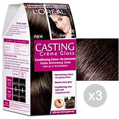 Set 3 CASTING Creme Gloss 400 Castano. Tinta E Colore Per Capelli