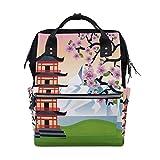 Kawaii Japaner Schöne Sakura Große Kapazität Windel Taschen Mummy Rucksack Multi Funktionen Wickeltasche Tasche Handtasche Für Kinder Babypflege Reise Täglichen Frauen