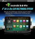 Autoradio Erisin ES7929D 8' Android 9.0 GPS DAB+Renault Dacia Duster Logan Sandero Dokker