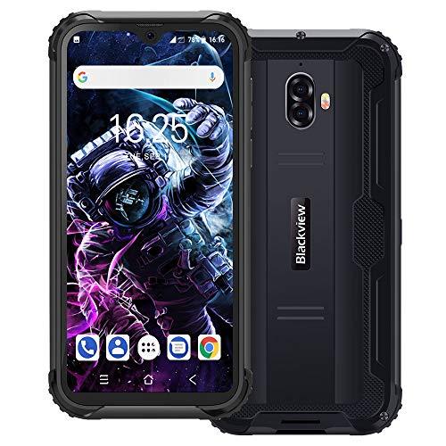 Blackview BV5900 IP69K Outdoor Handy Ohne Vertrag 5,7 Zoll HD+ Waterdrop Display 13MP+5MP Kameras 5580mAh Akku Helio A22 3GB+32GB 4G Robustes Smartphone - NFC/Fingerabdruck/Face ID - Grau
