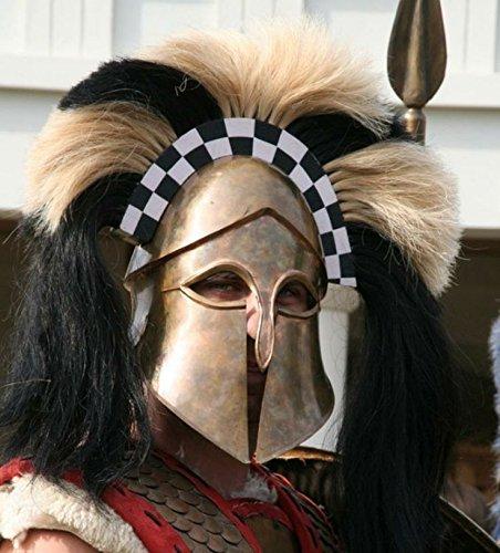 NauticalMart Hoplite Reenactment Greek Corinthian Helmet with Crest