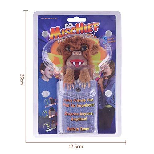 AHTOSKA Innovative Sneekums Pet Pranksters Gag Toys Machen Sie Sich bereit zu verstecken und zu überraschen 3 Finger Stil AFFE Lustiges Tricky Geschenk für Kinder
