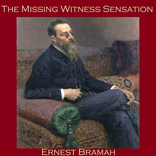 The Missing Witness Sensation audiobook cover art
