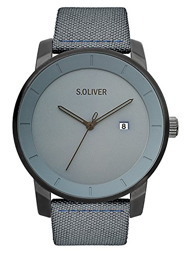 s.Oliver Unisex Erwachsene Analog Quarz Smart Watch Armbanduhr mit Nylon Armband SO-3570-LQ