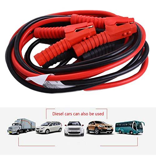LeKing Ligne de Charge de Secours de câbles d'appoint Câbles de Renfort résistants en cuivre Pur du Noyau 1800A 7AWG / 10mm2x 3m / 10ft