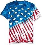 Liquid Blue Men's Plus-Size Stars and Stripes T-Shirt, Tie Dye, XX-Large