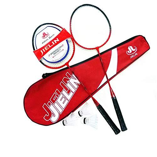 Xiaoyue 100{a0d7c1fa4ca0e20a3c51068d819429d1cf48b60e0e2898a1e2cda076b098d0a7} Vollcarbonfaser-Hochspannungs Schnur Badmintonschläger, Profi-Wettbewerb Design Welle Badmintonschläger, Leicht Graphite Einzelbadmintonschläger Badmintontasche. lalay (Color : Red)