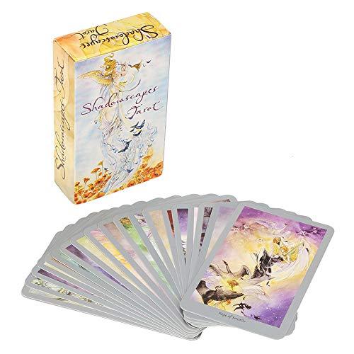 Tarot Kartenset, Buntes Schattenlandschaftstarot, Tragbares Mystisches Tarotdeck Future Fate Forecasting Cards Spielset für die Weihnachtsfeier Sammlungsgeschenke für Tarot Enthusiasten